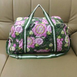 Vera Bradley Round Duffel Bag Olivia Pink
